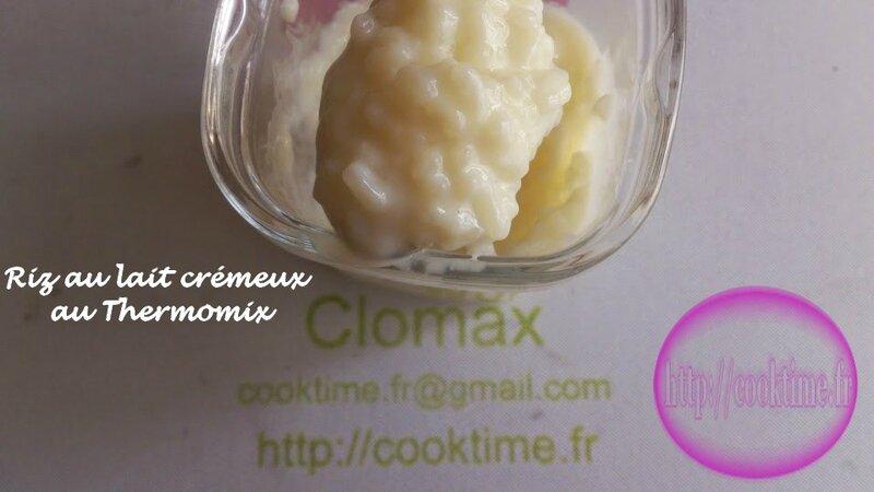 Riz au lait crémeux au Thermomix 2