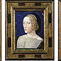 France, limoges, xixe siècle, à la manière de léonard limosin (1505-1575), louis de chandio (1480-1532); femme au collier de pe