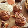 Muffins a la banane et au praliné