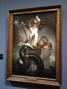 L'ange du Bizarre, le romantisme noir- Johann Heinrich Fussli - Thor luttant contre le serpent Midgard 1790