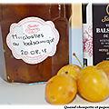 Confiture de mirabelles et vinaigre balsamique