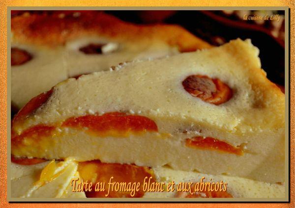 tarte au fromage bllanc et aux abricots