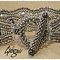 bracelet serpentine argent