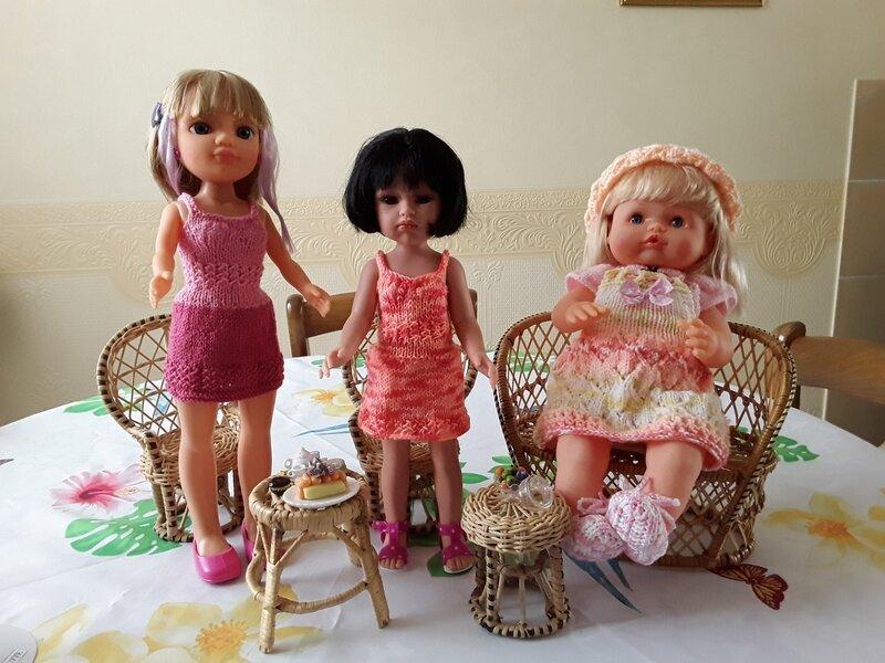 Niki & Olivette & Gabrielle 3 jolies poupettes