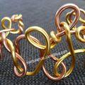 bracelet orange doré