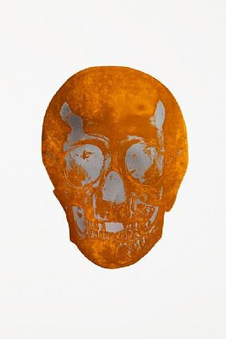 Damien Hirst, The Dead Island Copper Silver Gloss Skull , 2009