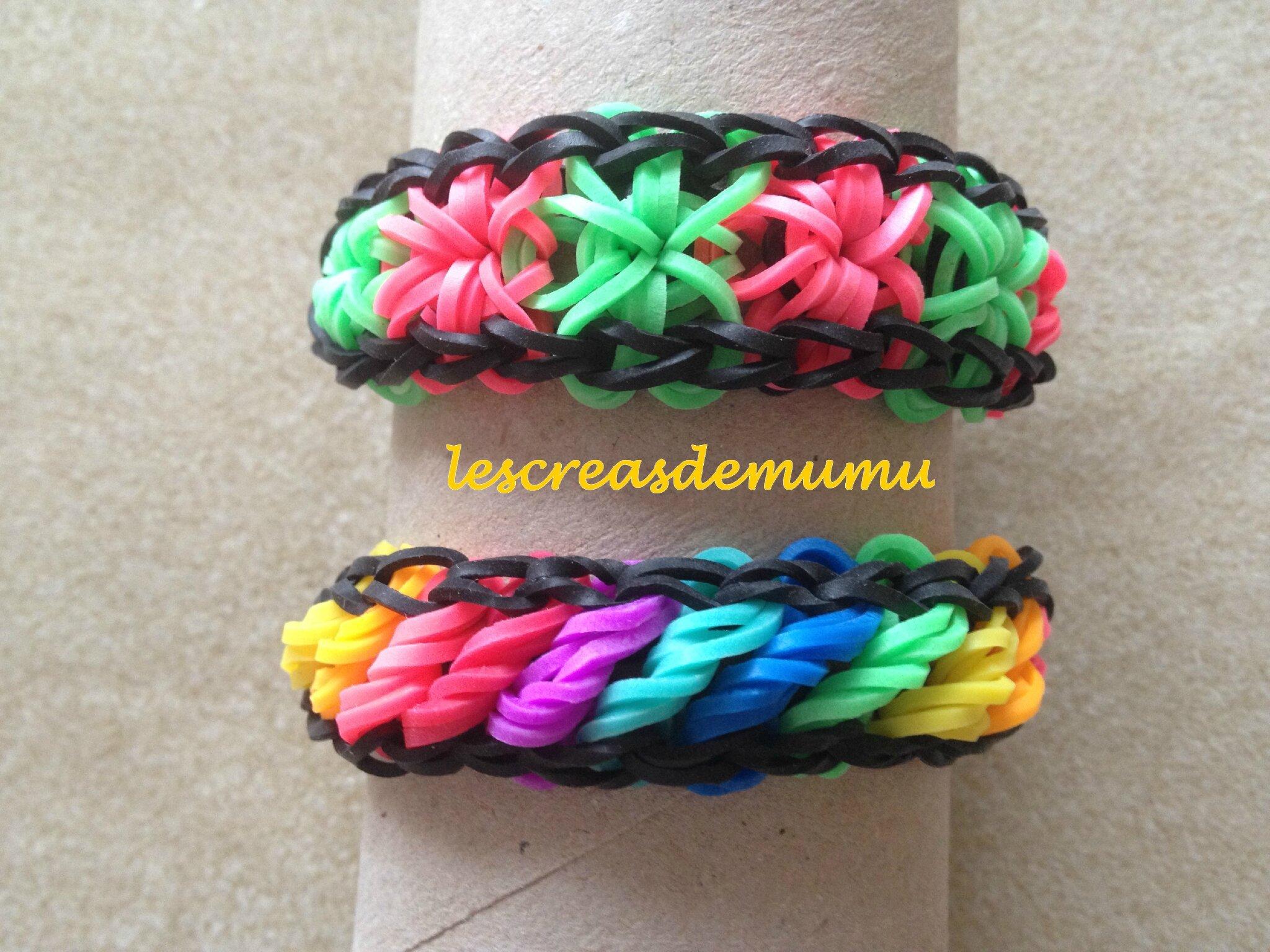 Bracelets élastiques étoile et rotini