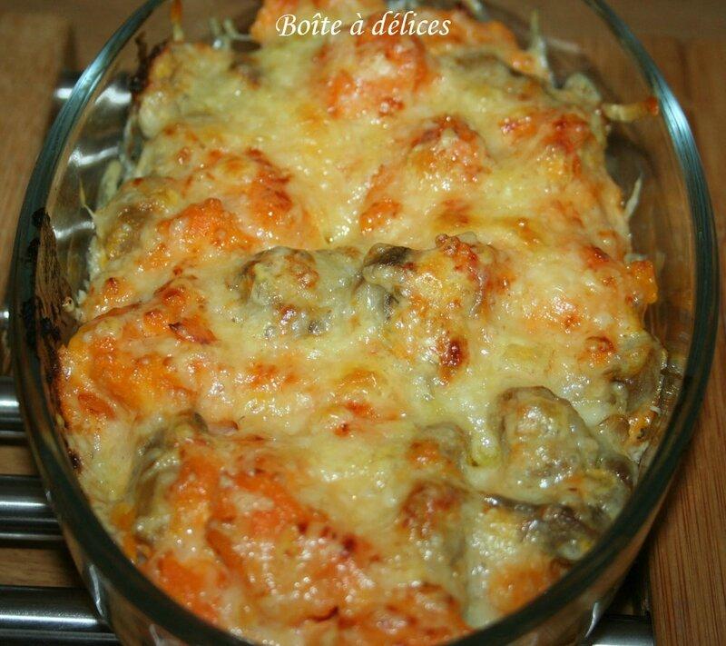Gratin-patate-douce-champig