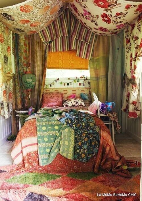Beau décors & Habitats Bobo-Bohème Chic...couleurs...chaleur...bonheur & des joyeux fourbies....j'adore