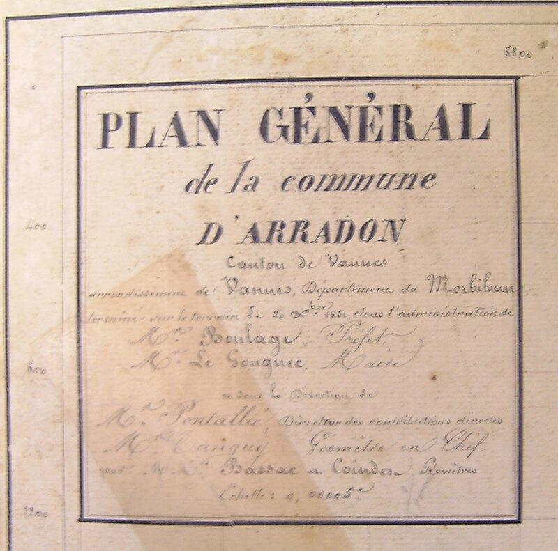 Plan général d'Arradon