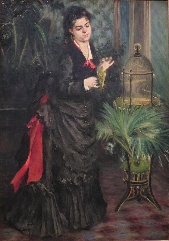 Pierre Auguste Renoir, la femme à la perruche