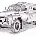 Dessins de camions anciens, la suite.