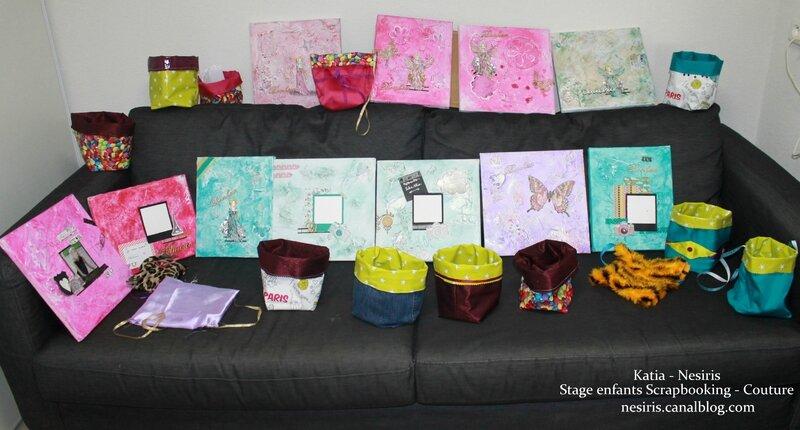 Stage enfants scrapbooking couture aix les bains Atelier nesiris