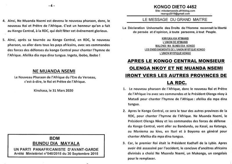 APRES LE KONGO CENTRAL MONSIEUR OLENGA NKOY ET NE MUANDA NSEMI IRONT VERS LES AUTRES PROVINCES DE LA RDC a
