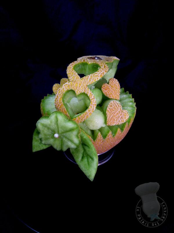 Corbeille de melon Galia
