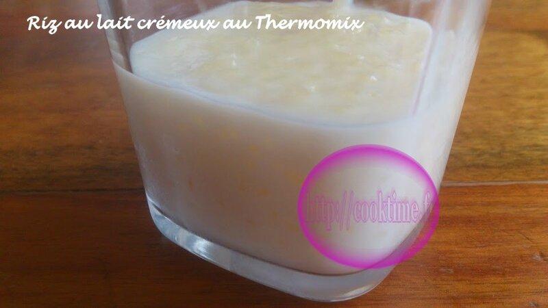 Riz au lait crémeux au Thermomix 1