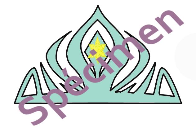 couronne Reine des neiges spécimen