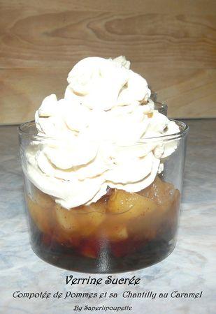 Verrine sucrée compotée de pommes