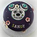 Gâteau sugar skull mickey