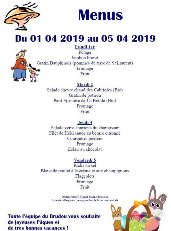 cantine 01 04 2019