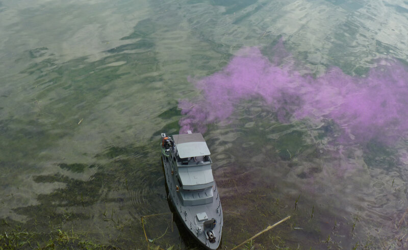 1er tir de fumigène
