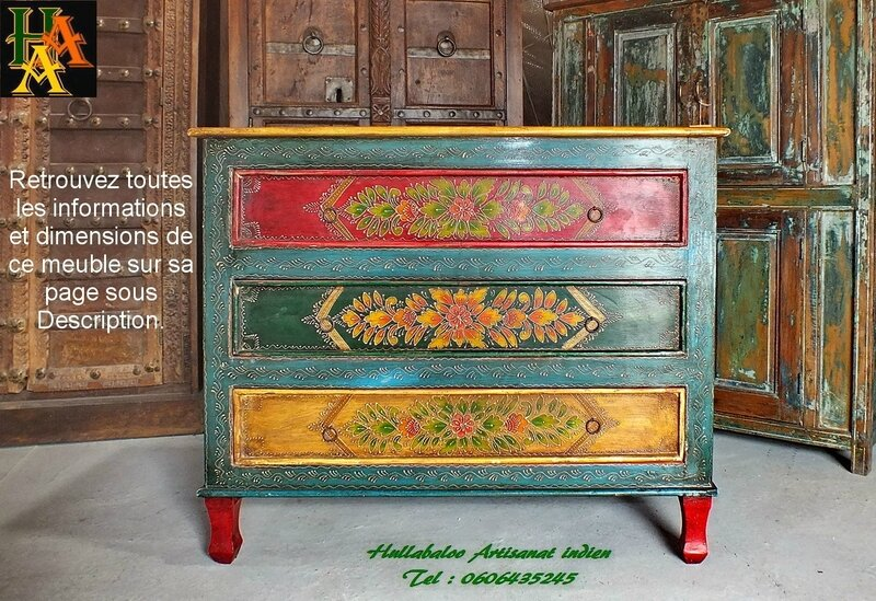 buffet_indien_peint_meubles_peints_001
