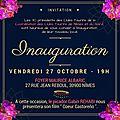 Invitation inauguration local coordination des clubs taurins de nîmes et du gard
