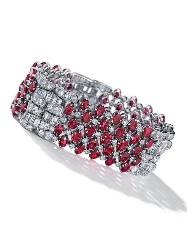 An Art Deco ruby and diamond bracelet, by Van Cleef & Arpels, circa 1935