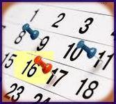 calendrier autour du 16