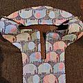 Mise en place de la parmenture, sur la tunique boutonné des ipkid : le tuto