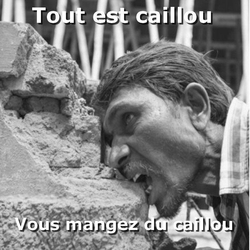 Manger du caillou