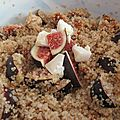 Salade tiède de quinoa, figue, fromage de chèvre