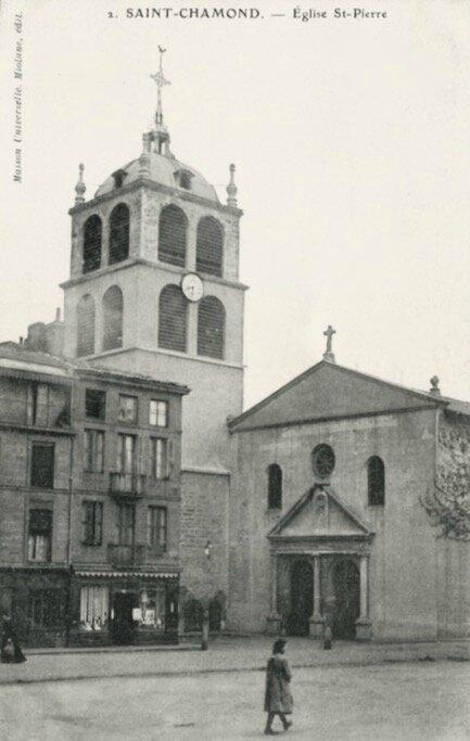 église Saint-Pierre cpa verticale