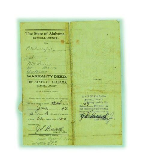 These deeds contain detailed accounts of the property owed by Katherine Jackson's maternal step grandparents Will and Lizzie Bridget
