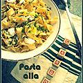 Salade de pâtes fraîches façon carbonara