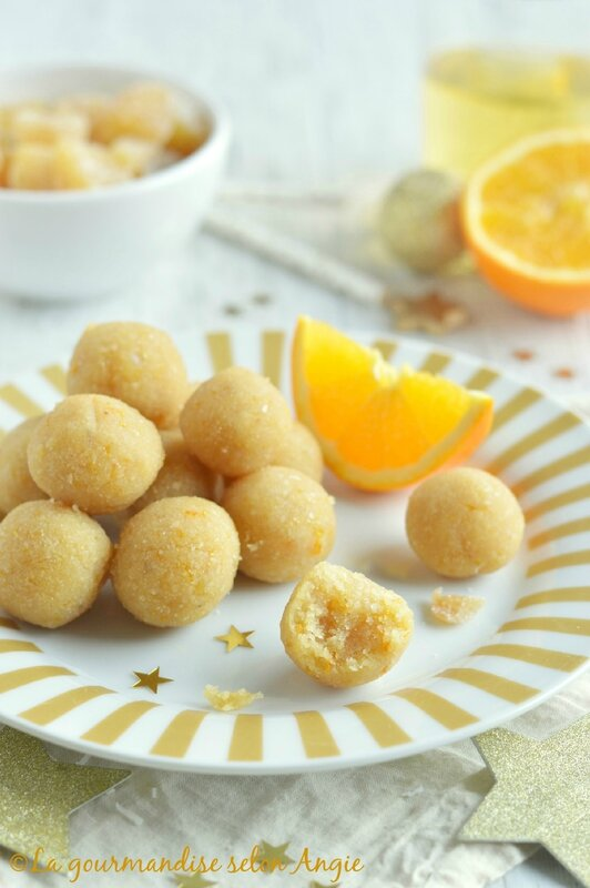 truffes crues amande orange vegan noël cadeau gourmand