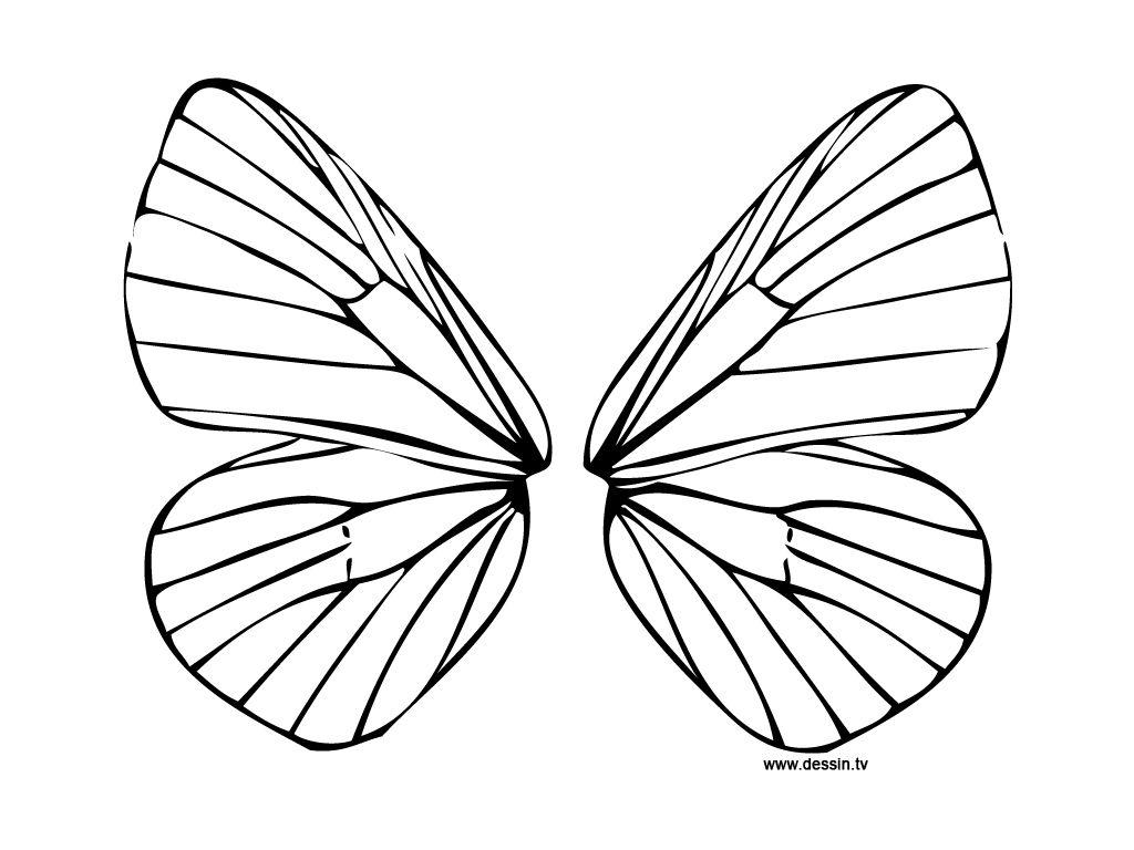 Aile De Papillon Dessin masques et ailes de fee ou papillon a imprimer pour enfant - fête