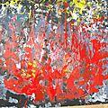 Drop painting, volcan
