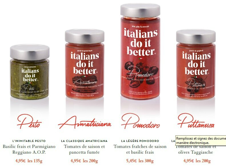 Sauces Italians do it better
