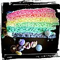 Anniversaire de simon thème arc en ciel #rainbow birthday party #rainbow cake