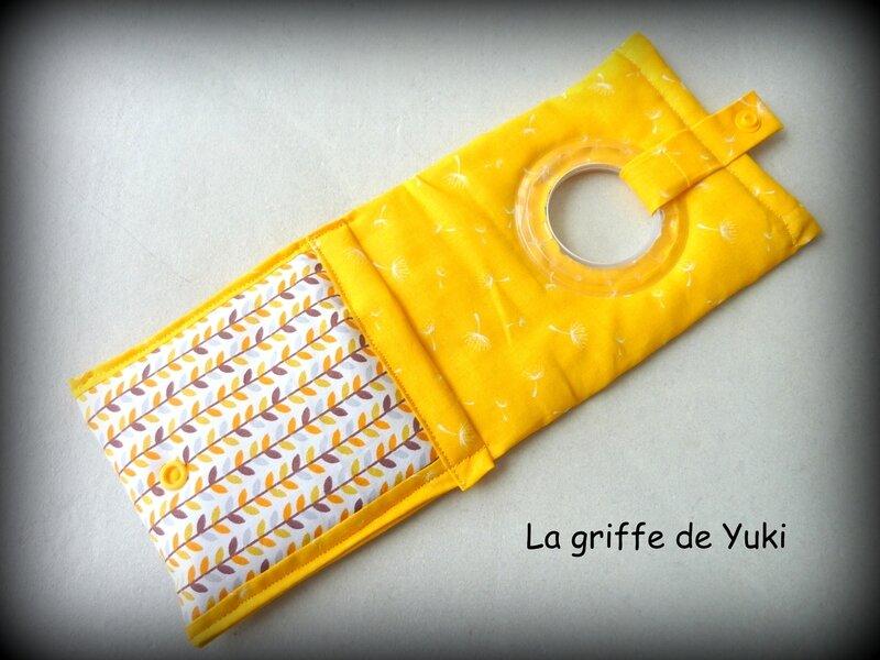 422 - Pochette chargeur téléphone jaune orange blanc (3)
