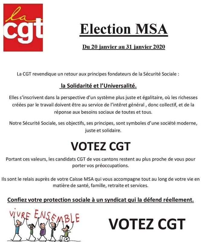 ELECTION MSA 01 2020 - relance