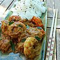 Crevettes à la thaïe et riz au sésame