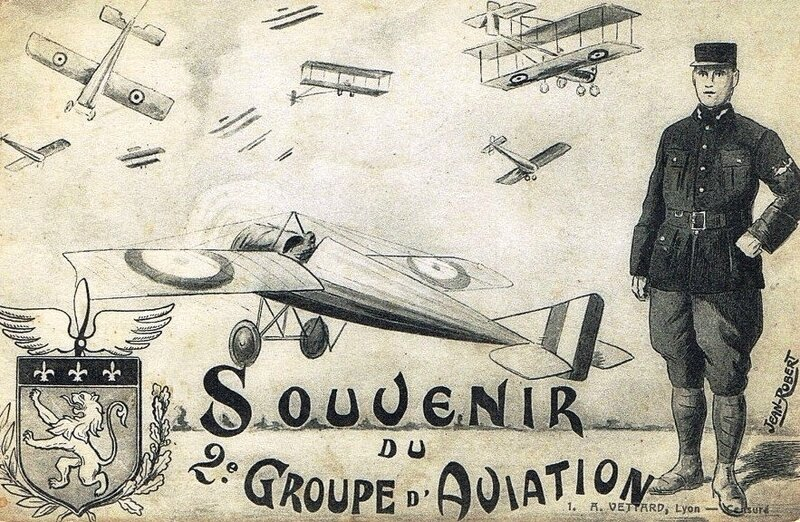 CPA Bron Souvenir 2e Groupe d'Aviation