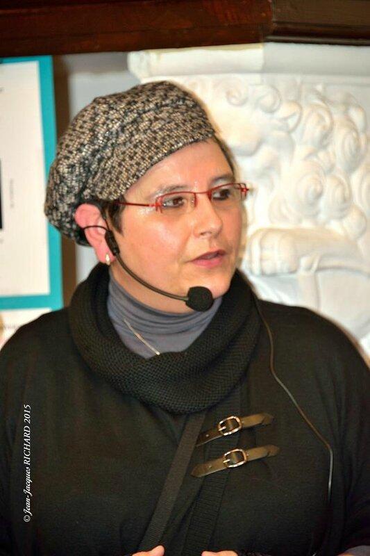 Carine-Laure Desguin, à présent membre sociétaire de L'Association des Ecrivains Belges