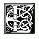 lettre typo celtique L