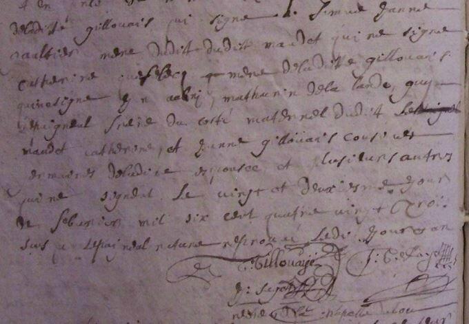 1683 le 22 février mariage sylvestre maudet avec Marie Gillouais_2