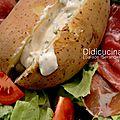Salade: salade serano-pomme de terre.