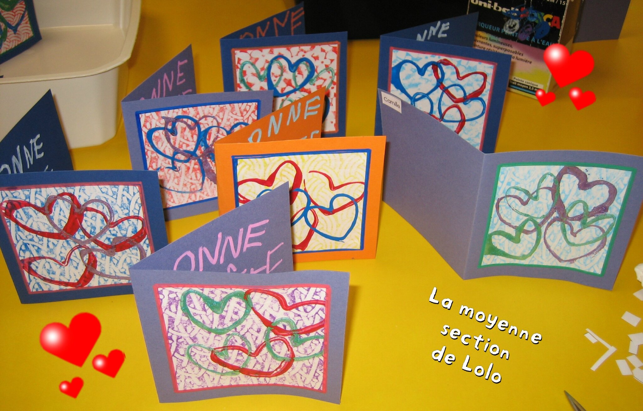 carte fete des mères maternelle UNE CARTE   LA MOYENNE SECTION DE LOLO