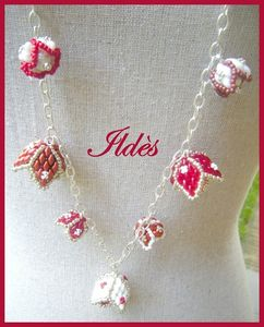 collier alba rouge blanc 4